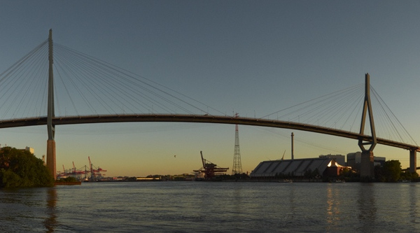 Köhlbrandbrücke Sonnenuntergang